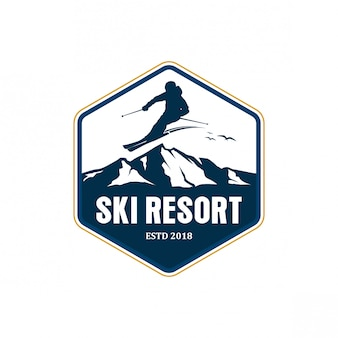 Ski resort logo design