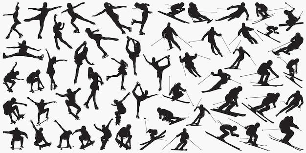Ski skate silhouettes