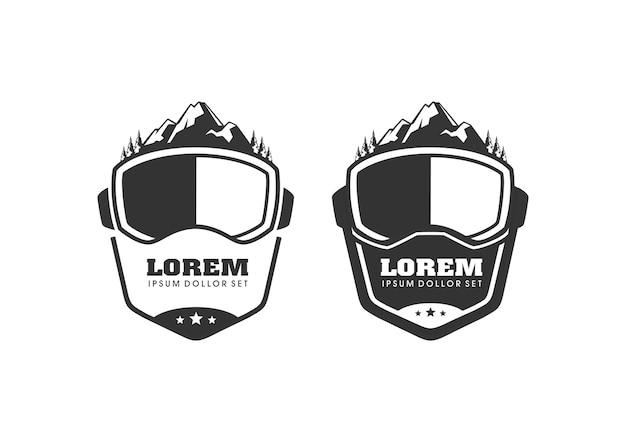 Ski sport mountain logo