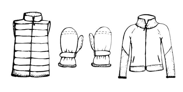 Куртка с варежками для лыжного спорта