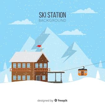 Фон лыжной станции