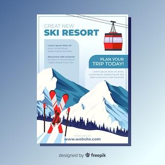 Ski trip flyer