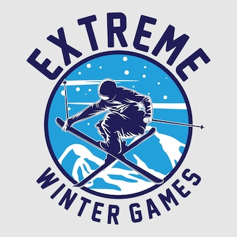 Ski winter game graphic