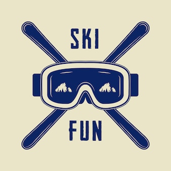 Ski or winter sports logo
