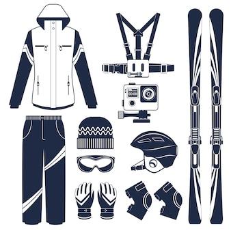 スキー。極端なウィンタースポーツ。