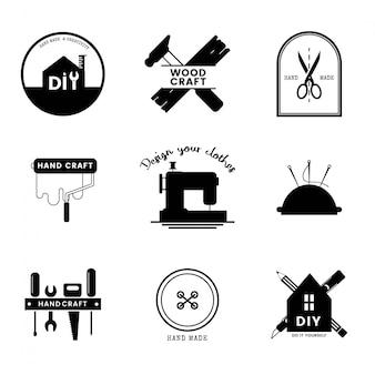 숙련 된 서비스 사업 로고 디자인