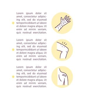 텍스트와 함께 피부 관리 절차 개념 아이콘입니다. 집에서 미용 치료 ppt 페이지 템플릿. 스킨 태그 제거.