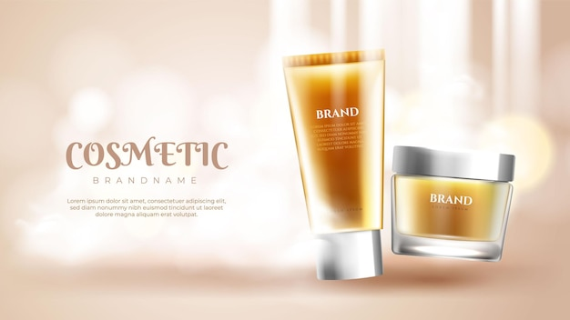 Skin care product ads banner
