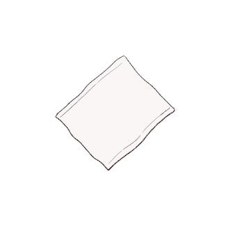 Средства по уходу за кожей. хлопок. симпатичный и простой художественный стиль. на белом фоне.