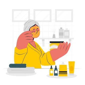 Skincare concept illustration
