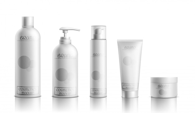Skincare cosmetics products line packaging