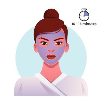 Процедура ухода за кожей с маской для женщин