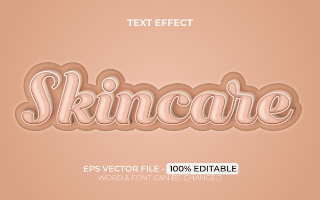Skincare text effect style editable text effect beauty theme