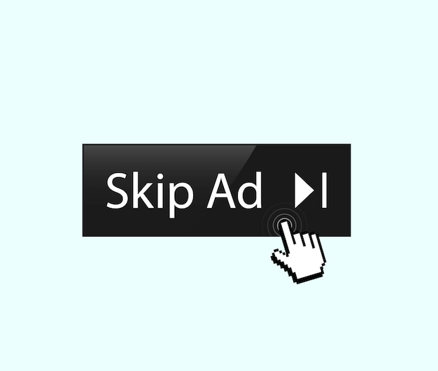 Skip ad button