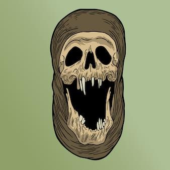 スカリの頭蓋骨