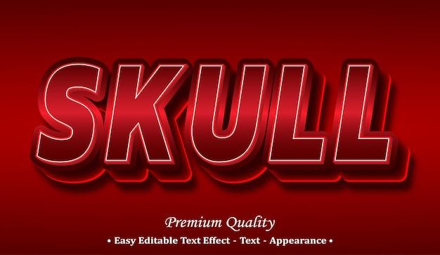 Skull 3d font style effect