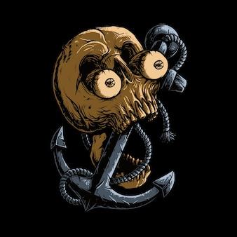 Иллюстрация ужаса якоря черепа
