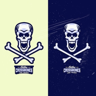 Логотип skull and crossbones esports