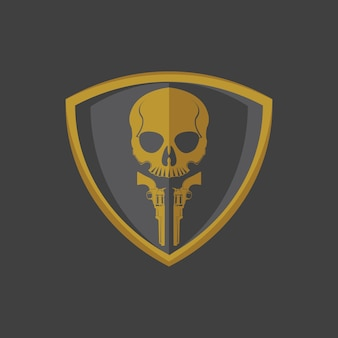두개골과 총 로고