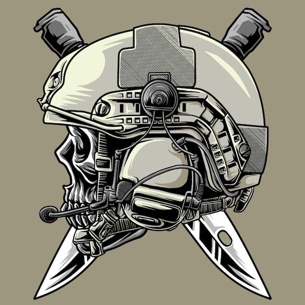 해골과 전술 키 군대