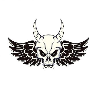 Дизайн черепа и крыльев