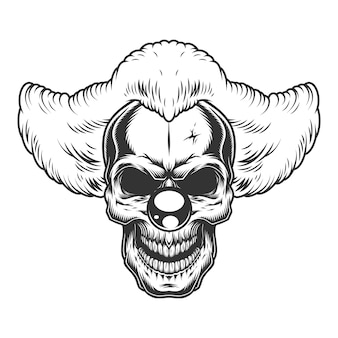 Skull angry clown