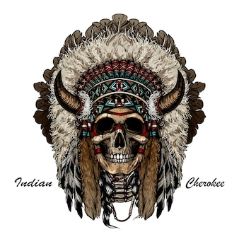Skull apache warrior