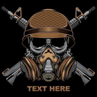Skull army military logo