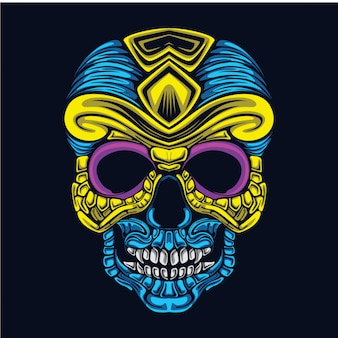Skull art illustration