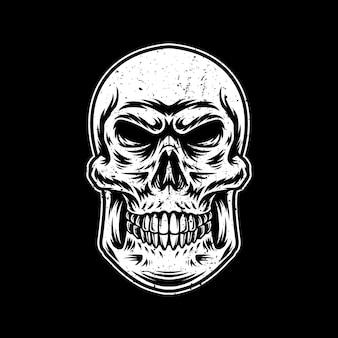 해골 삽화 일러스트 디자인 로고