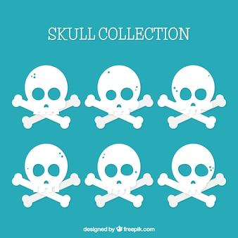 Skull background nel design piatto