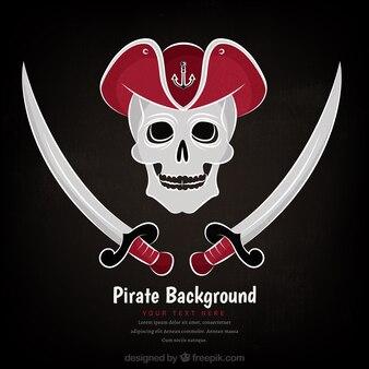 Череп фон пиратский дизайн