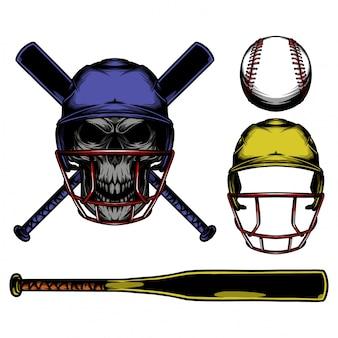 Skull baseball