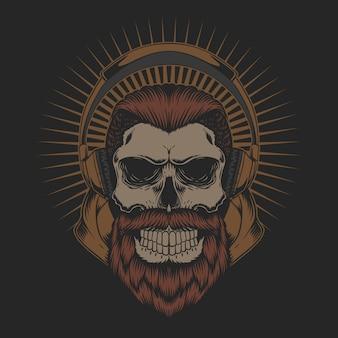 Наушники skull beard