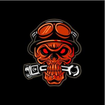 Skull beat piston