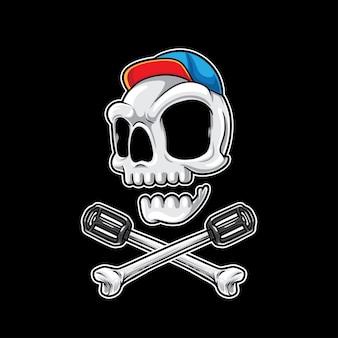 Велосипедные кости черепа