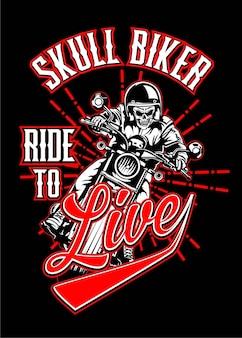 Skull biker 1