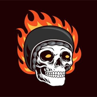スカルバイカーの炎