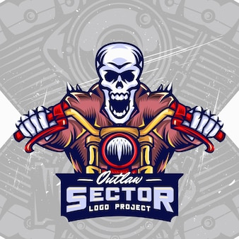 Skull bikers esport logo design