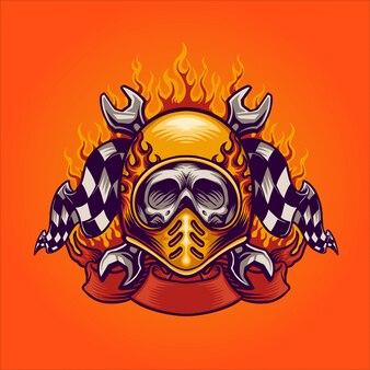 Skull bikers