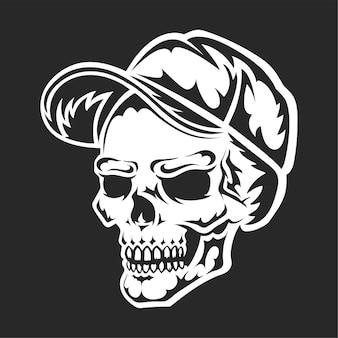 Skull black silhouette
