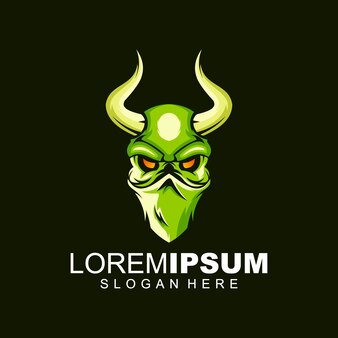 Skull bull logo
