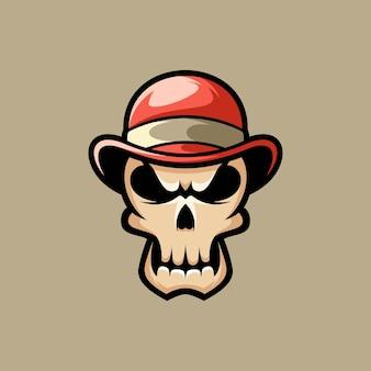 Skull cap mascot design