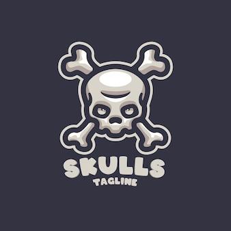 あなたの会社の頭蓋骨の漫画のロゴ