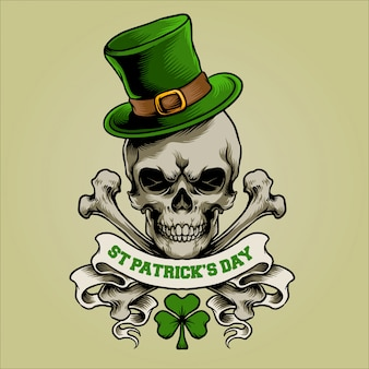 Skull character for st patrick's day