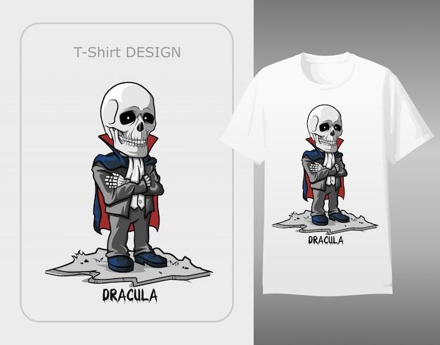 Skull character wear dracula costume halloween