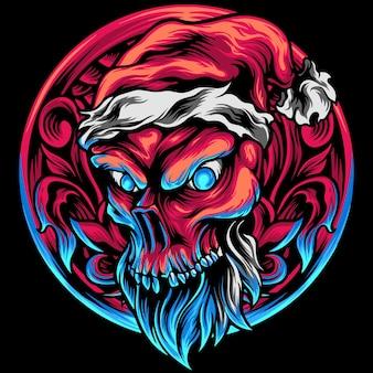 飾り付きスカルクリスマス