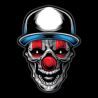 Skull clown illustration