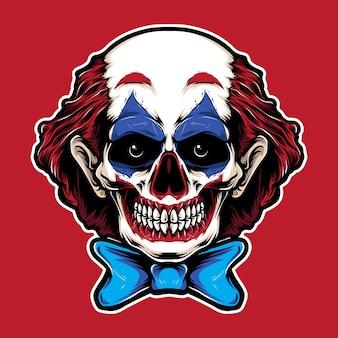Череп клоуна с рыжими волосами