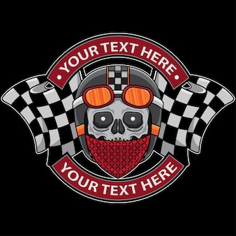Skull club motorcycle logo template